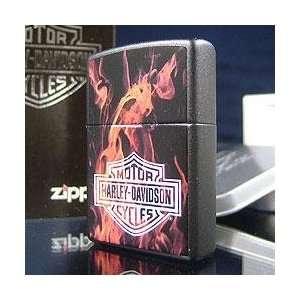 Zippo Harley Davidson on Fire