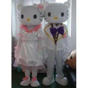 Lovely Hello Kitty and Daniel Star CAT Cartoon Mascot