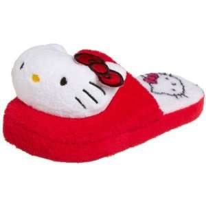 Hello Kitty Face Slippers Red Size 10 11 Ladies Toys & Games