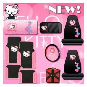 Hello Kitty Sanrio Hearts Design 10 Pieces Combo Set Front and Rear