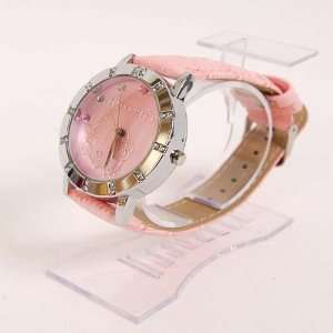 Hello Kitty Round Stainless Watch Wristwatch Pink