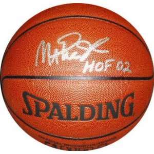 Magic Johnson Autographed Indoor/Outdoor NBA Basketball with HOF 02