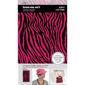 SEI 5 1/2 Inch by 9 1/4 Inch Solid Hot Pink Zebra Iron on