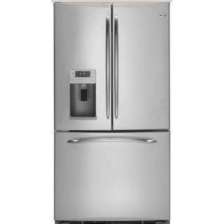 21.6 cu ft Counter Depth Side by Side Refrigerator   Stainless Steel