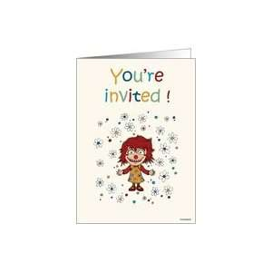 Kids birthday party   invitation. Card Toys & Games