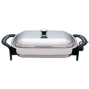 Steel Electric Skillet Stainless Steel Cover: Kitchen & Dining