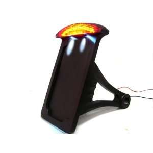 Harley Side Mount Vertical License Plate Bracket LED Tail Brake Light