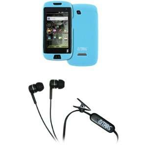 EMPIRE Light Blue Silicone Skin Case Cover + Stereo Hands