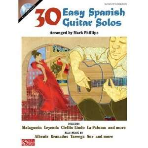 Spanish Guitar Solos (Book & CD) [Paperback] Mark Phillips Books