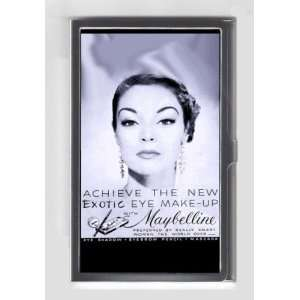 MAYBELLINE 1950 EXOTIC EYE MAKE UP RETRO AD Credit/Business Card Case
