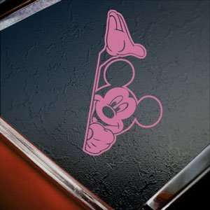 MICKEY MOUSE Pink Decal Car Truck Bumper Window Pink