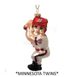 Pack of 5 MLB Minnesota Twins Glass Batter Christmas