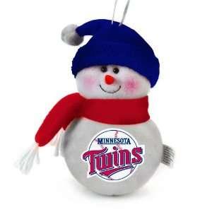 Pack of 3 MLB Minnesota Twins Plush Snowman Christmas