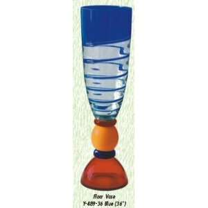 Rosella Blue Vase Hand Blown Modern Glass Vase