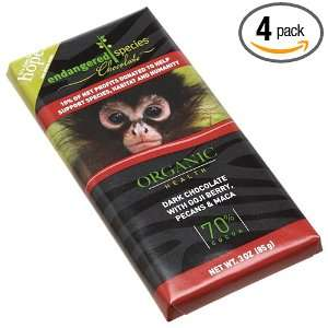 Endangered Species Monkey Chocolate Bar, Goji And Pecans, 3 Ounce