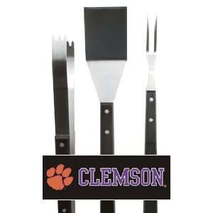 3 Piece NCAA Clemson Tigers BBQ Grilling Accessory Tool