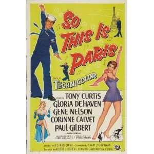 This Is Paris Poster Movie C 11 x 17 Inches   28cm x 44cm Monte Blue