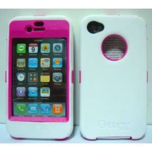 Otterbox Defender Case for Iphone 4S (White Silicone On