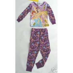 Disney Fairies Tinker Bell Girls Long PJ Pajamas Sz 2
