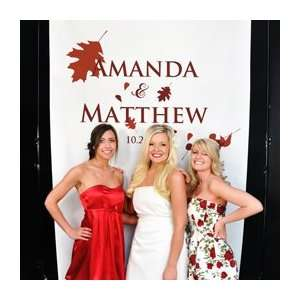 Fall Wedding Photo Booth Backdrop   Free Shipping