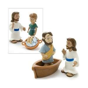 Five Thousand, Jesus Walks on Water Figures with Playmat Toys & Games