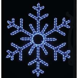 Pole Decoration   3 Ft 6 Point Snowflake   Blue   RL LED Lights Home