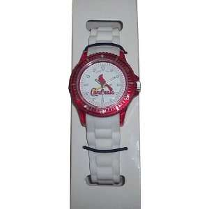 MLB St Louis Cardinals Red with White Band Watch
