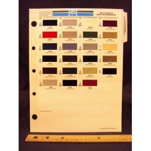 1990 90 ASTON MARTIN IMPORTED Paint Colors Chip Page