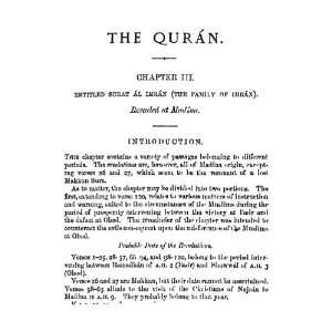 Comprehensive Commentary On The Quran Vol   Ii E.M.Wherry Books