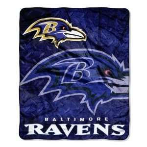 Baltimore Ravens NFL 50 X 60 Roll Out Style Royal Plush