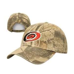 Twins 47 Carolina Hurricanes Real Tree Camo Adjustable Hat   Carolina