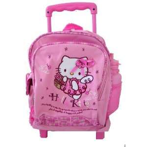 Hello Kitty Angel Rolling Backpack  Kid size school bag Toys & Games