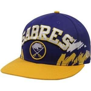 New Era Buffalo Sabres Royal Blue Gold Vintage Side