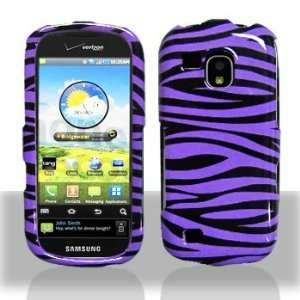 Samsung i400 Continuum Purple Black Zebra Case Cover