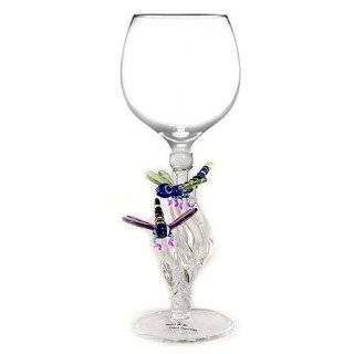 Hand blown Sharks Wine Glass by Yurana Designs   W211