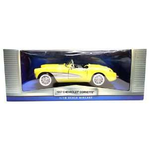 1957 Chevrolet Corvette Yellow 118 Scale Diecast Car Toys & Games