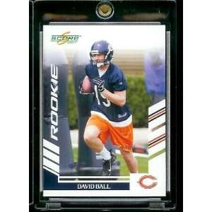 2007 Score # 380 David Ball   Chicago Bears   NFL Football