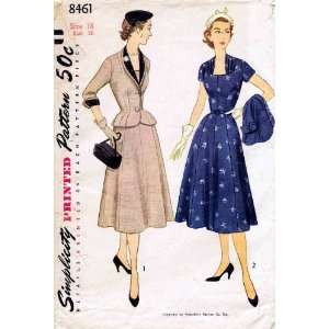 Simplicity 8461 Vintage Sewing Pattern Womens Dress