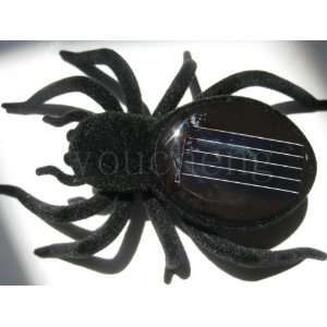 toys black solar spider toy solar gifts 50pcs/lot Toys & Games