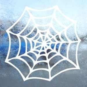 Spider Web White Decal Window Laptop Vinyl White Sticker