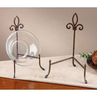 Large Metal Platter Bowl Plate Stand Display: Home