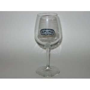 SAN ANTONIO SPURS 12 ounce Team Logo WINE GLASS