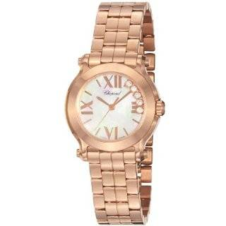 Happy Sport Oval Ladies White Diamond Dial Rose Gold Watch 275350 5002