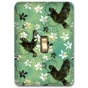 Floral Metal Light Switch Plate Cover Home Decor 247