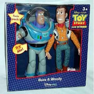 Toy Story Deluxe Buzz & Woody Action Figure Twin Pack  Toys & Games