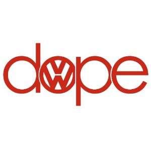 Dope Volkswagen RED VW Euro JDM Tuner Vinyl Decal Sticker