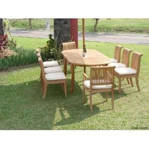 Extension Oval Table, 6 Armless and 2 Arm / Captain Chairs [ModelGVg
