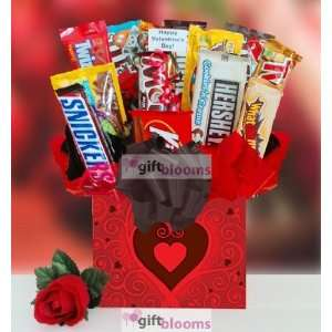 Valentines Day Candy Bar Bouquet