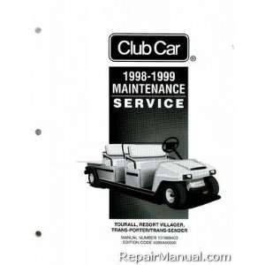Club CarTransportation Service Manual Club Car  Books