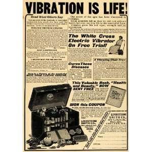 Life White Cross Electric Vibrator   Original Print Ad